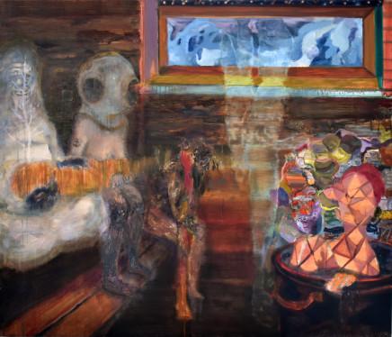 Raisa Raekallio & Misha del Val, Sauna Painting #2 (Sleeping, Seeking, Awake, Cosmic), 2021