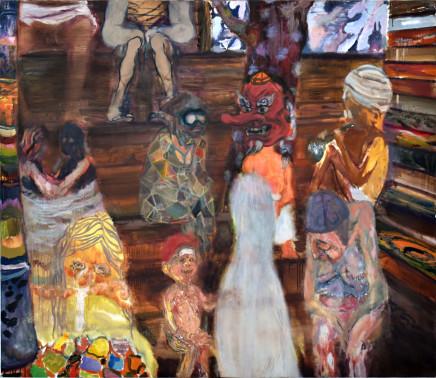 Raisa Raekallio & Misha del Val, Sauna Painting #1 (Purgatory), 2021