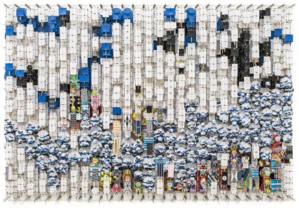 Jacob Hashimoto, On the Material Aspect of Dislocation, Magic and Possibility itself, 2019