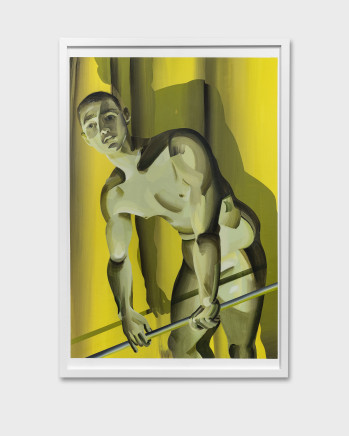 Kyle Dunn, Boy on Yellow Curtain, 2019