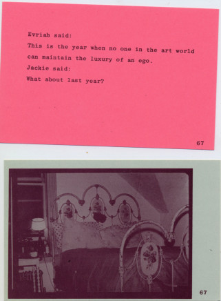 Carolee Schneemann, ABC - We Print Anything - In the Cards, 1976