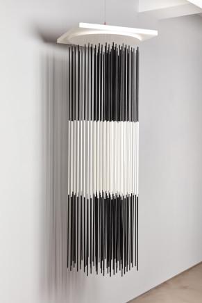 Jesus Rafael SOTO, Torre vibrante blanco y negro, 1968