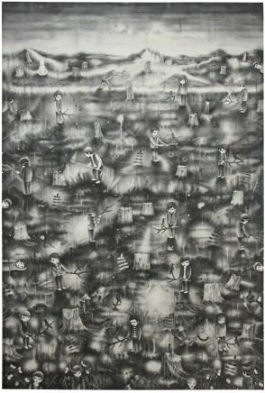 Zeng Guoqing 曾國慶, Who is the melancholy man under the trees? 是誰在為大樹的倒下而惆悵?, 2010
