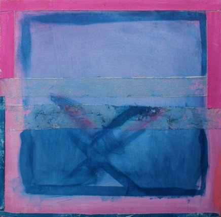 'Blue and Pink Abstract'