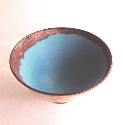 Sarah Perry, Copper Lustred Turquoise Bowl, 2020
