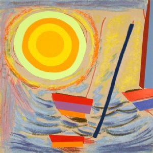 Sir Terry Frost RA, Sun and Boats (Kemp 258), 2003