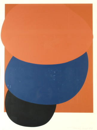 Sir Terry Frost RA, Brown, Blue, Black Descending (Kemp 78), 1981