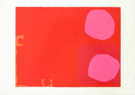 Patrick Heron, Two Pink Discs in Dark Reds: April 1970, 1970