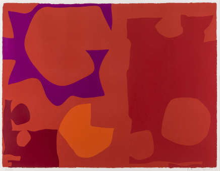 Patrick Heron CBE, Six in Vermilion with Red in Red : April 1970, 1970