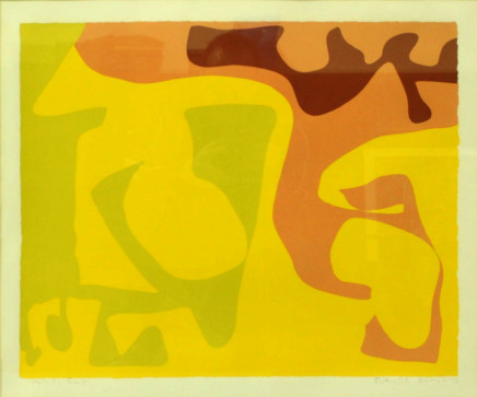 Patrick Heron, Abstract Study of Multicoloured Asymmetrical Shapes, 1973