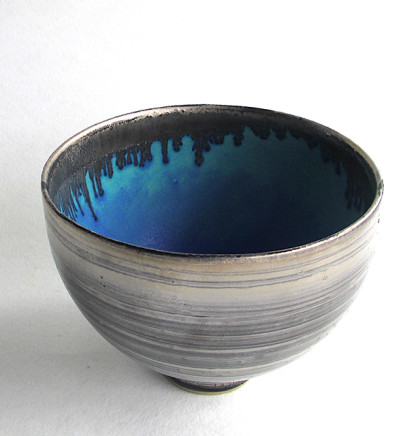 Silver Lustred Blue Pool Bowl, 2017