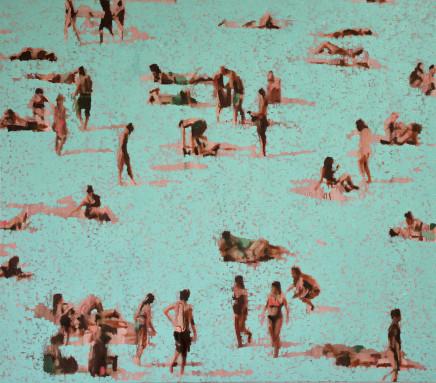 Nick Bodimeade, Shifting Turquoise 2, 2017