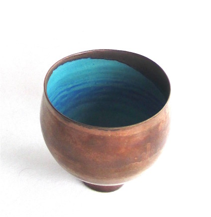 Sarah Perry, Tall Copper Lustred Blue Pool Bowl, 2019