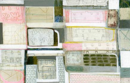 Anne Davies, Landscape: Trees, Houses, Walls, 2017