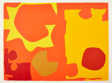Patrick Heron, Six in Light Orange with Red in Yellow: April 1970, 1970
