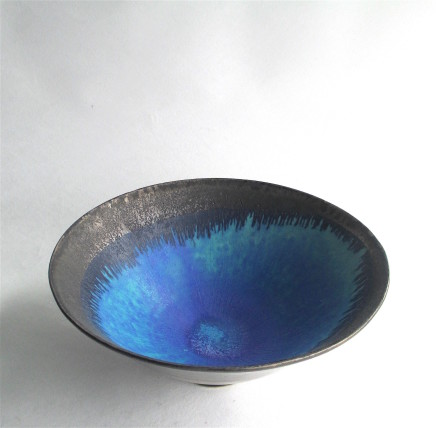 Silver Lustred Blue Pool Bowl , 2017