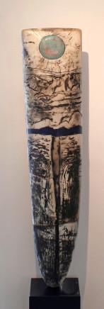 Peter Hayes, Raku Standing Stone, 2018