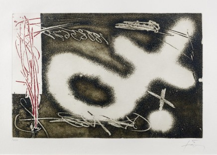 Antoni Tapies, Untitled from El Pendulo Inmovil, 1982