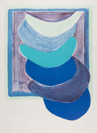 Sir Terry Frost RA, Blue Suspended Form (Kemp 54), 1970