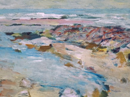 Vincent Wilson, On the Beach at Talland, 2014