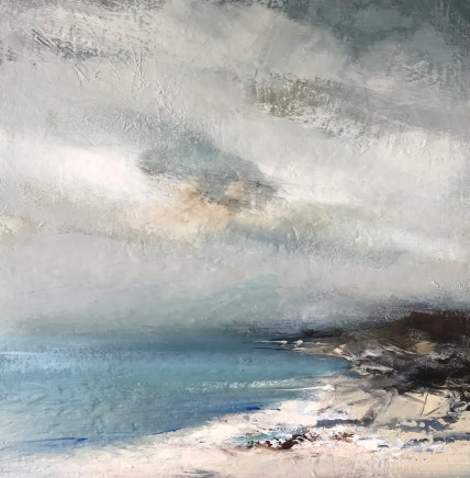 Jenny Hirst Fine Day, 2021 acrylic on board signed to front h. 40 cm x w. 40 cm framed: 60 cm x 60 cm