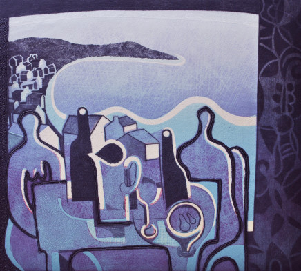 Trevor Price, Bottles, Pears and the Ocean, 2020
