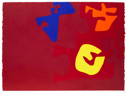 Patrick Heron CBE, Untitled Composition from The Rothko Memorial Portfolio, 1972