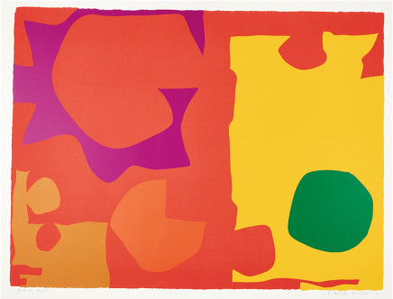 Patrick Heron, Six in Vermilion with Green in Yellow, 1970