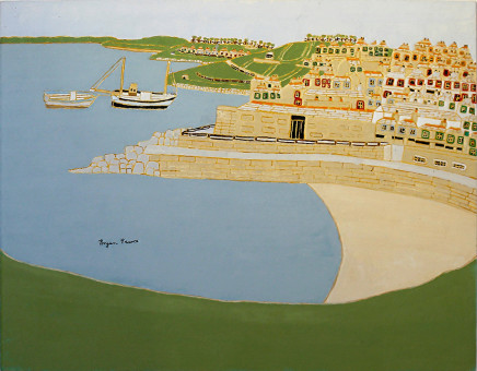 Bryan Pearce, Porthgwidden from The Island, 1993