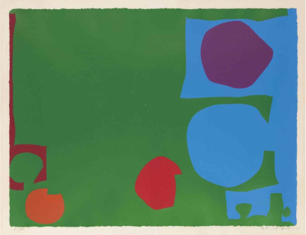 Patrick Heron, Three Reds in Green and Magenta in Blue: April 1970, 1970