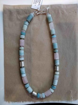 Roberta Hopkins, Black Amazonite/Rose Quartz tubes, 2018