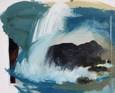 Sara Dudman RWA, Walking Past Sea Rock 3 (Kynance Cove) study 5, 2019