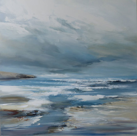 Jenny Hirst, Setting off on Gwithian Beach, 2019