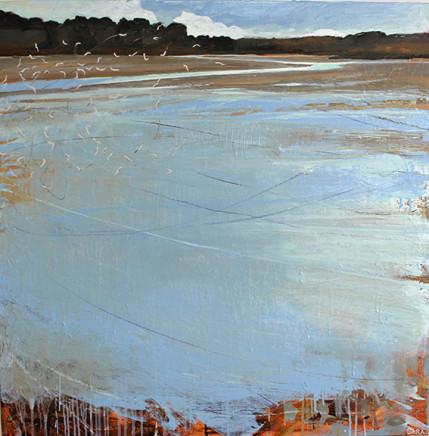 Sara Dudman RWA, Herring Gulls (Hayle Estuary) 3, 2020