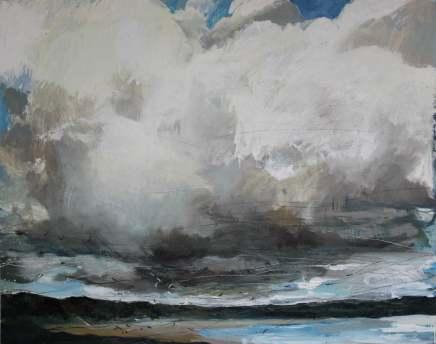 Sara Dudman RWA, Herring Gulls (Gwithian Beach) 1, 2018