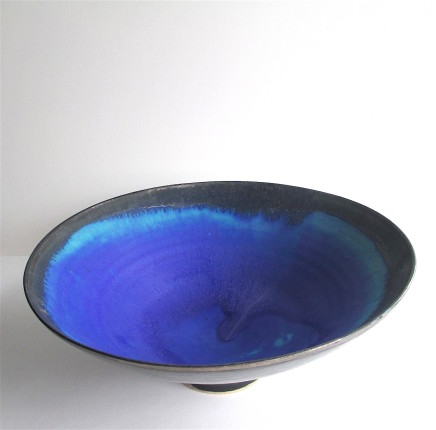 Sarah Perry, Silver lustred Blue Pool Bowl, 2020