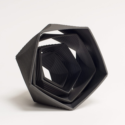 Keith Varney, Helix 5555 Black Porcelain, 2017
