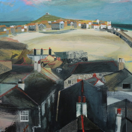 Jane Askey, St Ives Harbour and Rooftops, 2018