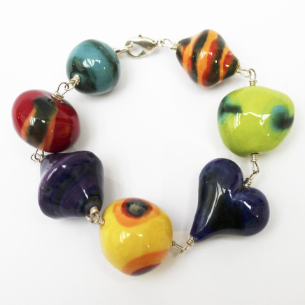 Elinor Lamond, Handmade Ceramic Beads Bracelet
