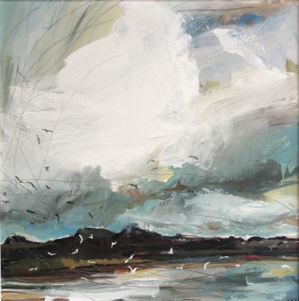 Sara Dudman RWA, Herring Gulls (Hayle Estuary) 1, 2017