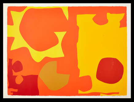 Patrick Heron CBE, Six in Light Orange with Red in Yellow: April 1970, 1970