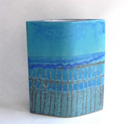 Sarah Perry, Blue Grid Ellipse, 2019