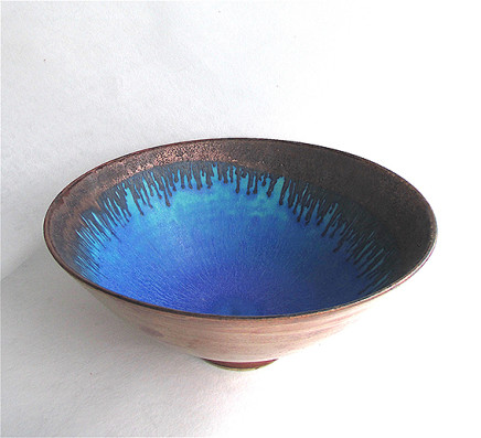 Copper Lustred 'Blue Pool' Bowl, 2017