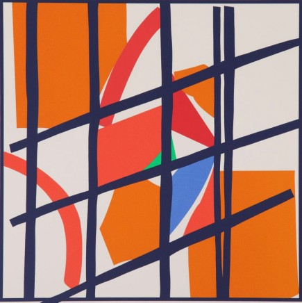 Sandra Blow RA, Orange and Red Facets, 2003