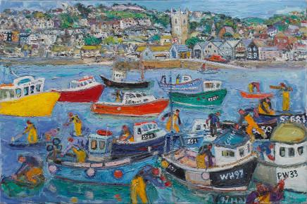 Fishermen St Ives, Intense Colours, 2017