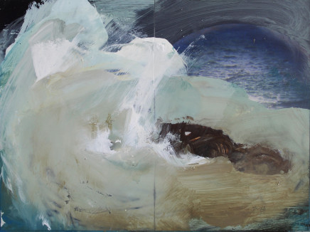 Sara Dudman RWA, Walking Past Sea Rock 3, Kynance Cove, Study 6, 2019