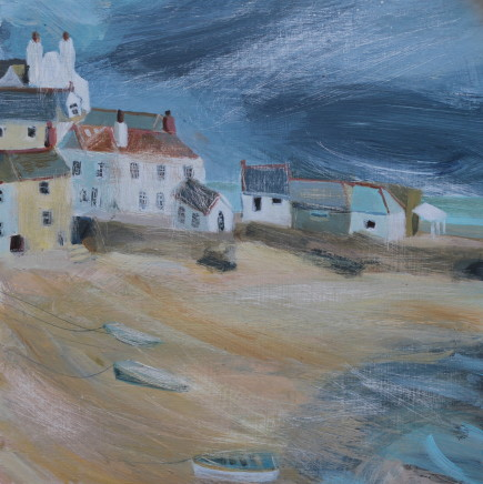 Jane Askey, Weather Approaching St Ives Harbour, 2018