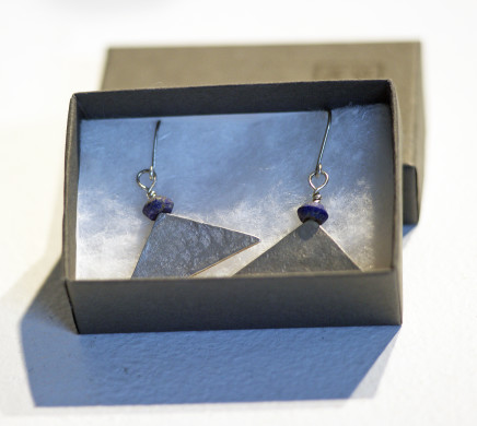 Roberta Hopkins, Lapis Lazuli Wide Triangles, 2019