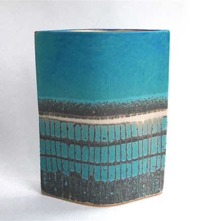 Blue 'Grid' Ellipse, 2017