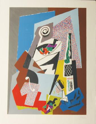 Gino Severini, Natura Morta con Violino (Still Life with Violin) plate 8, 1964/65